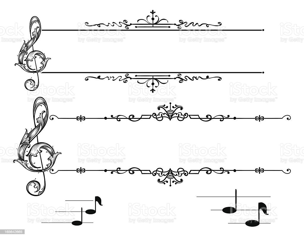 Musical Banners royalty-free stock vector art