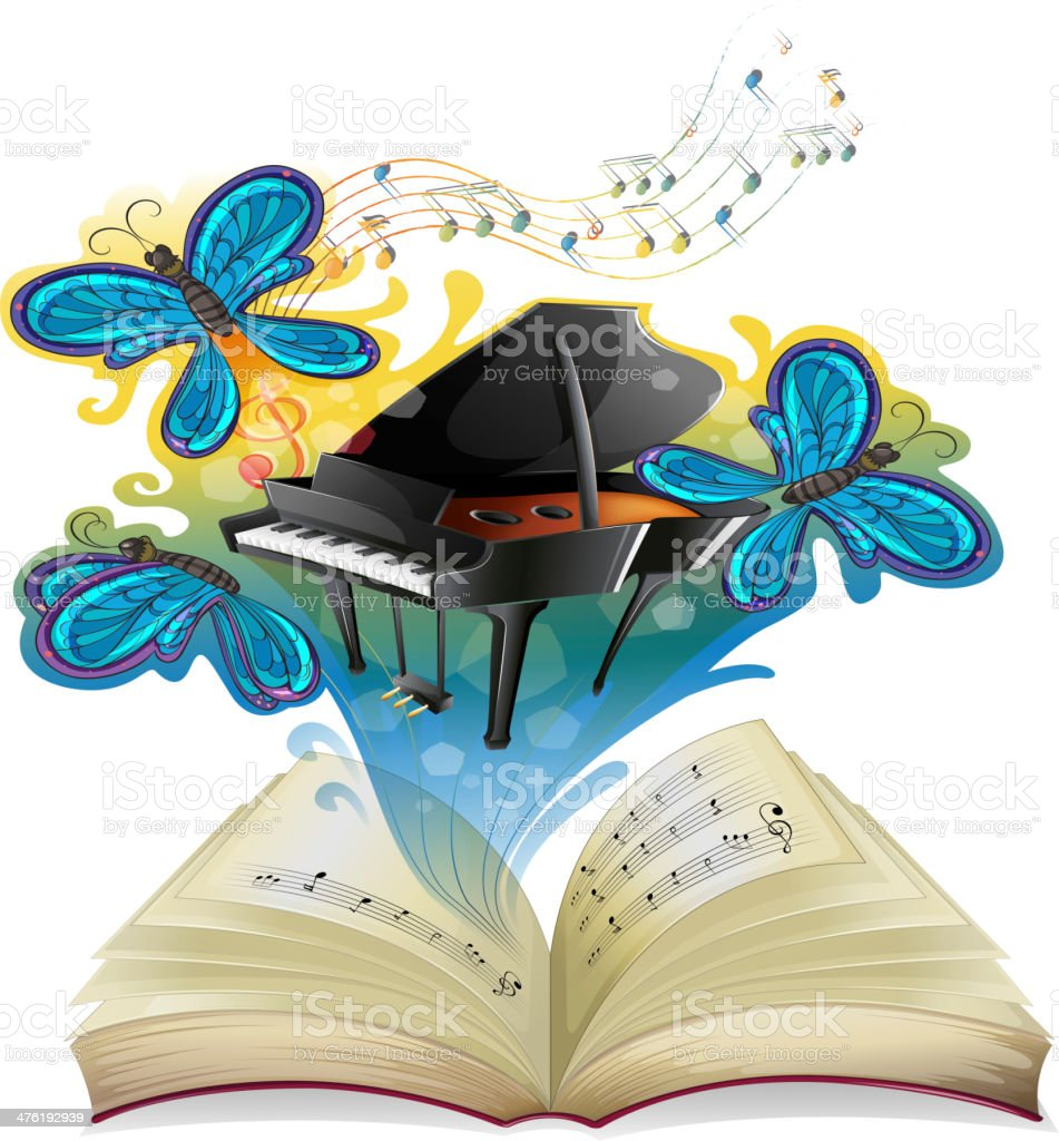musical book royalty-free stock vector art