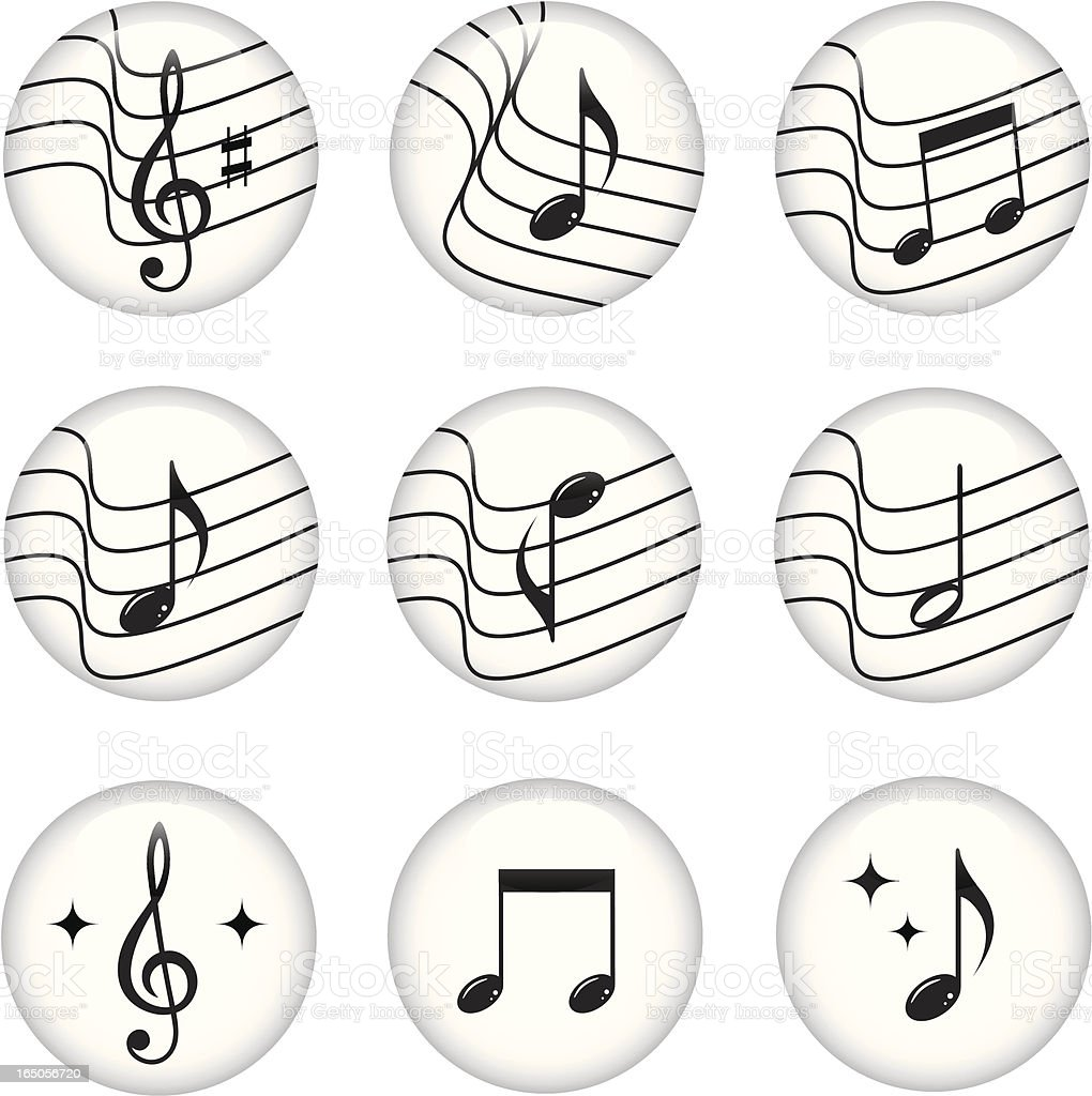 Musical buttons royalty-free stock vector art