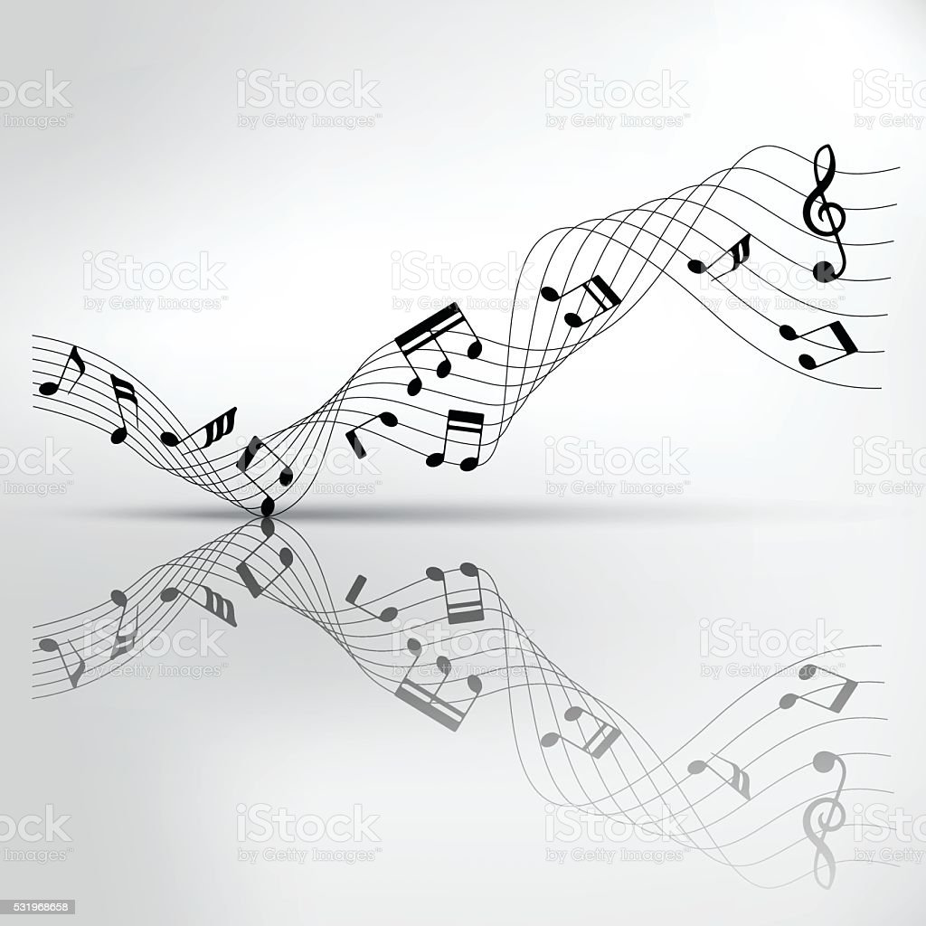 Musical chords and reflection on shadow background stock vector musical chords and reflection on shadow background royalty free stock vector art hexwebz Image collections