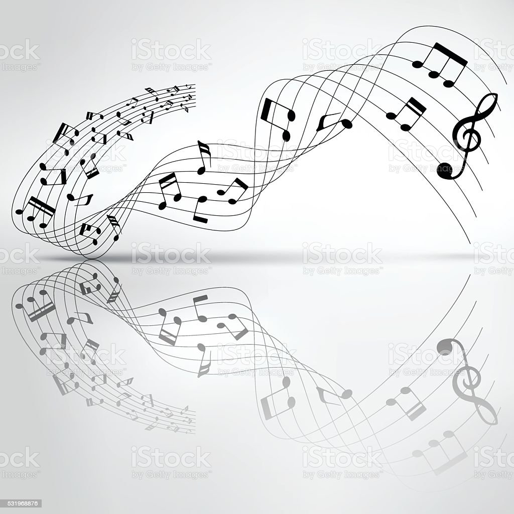 Musical chords flowing and reflection on shadow background stock musical chords flowing and reflection on shadow background royalty free stock vector art hexwebz Image collections