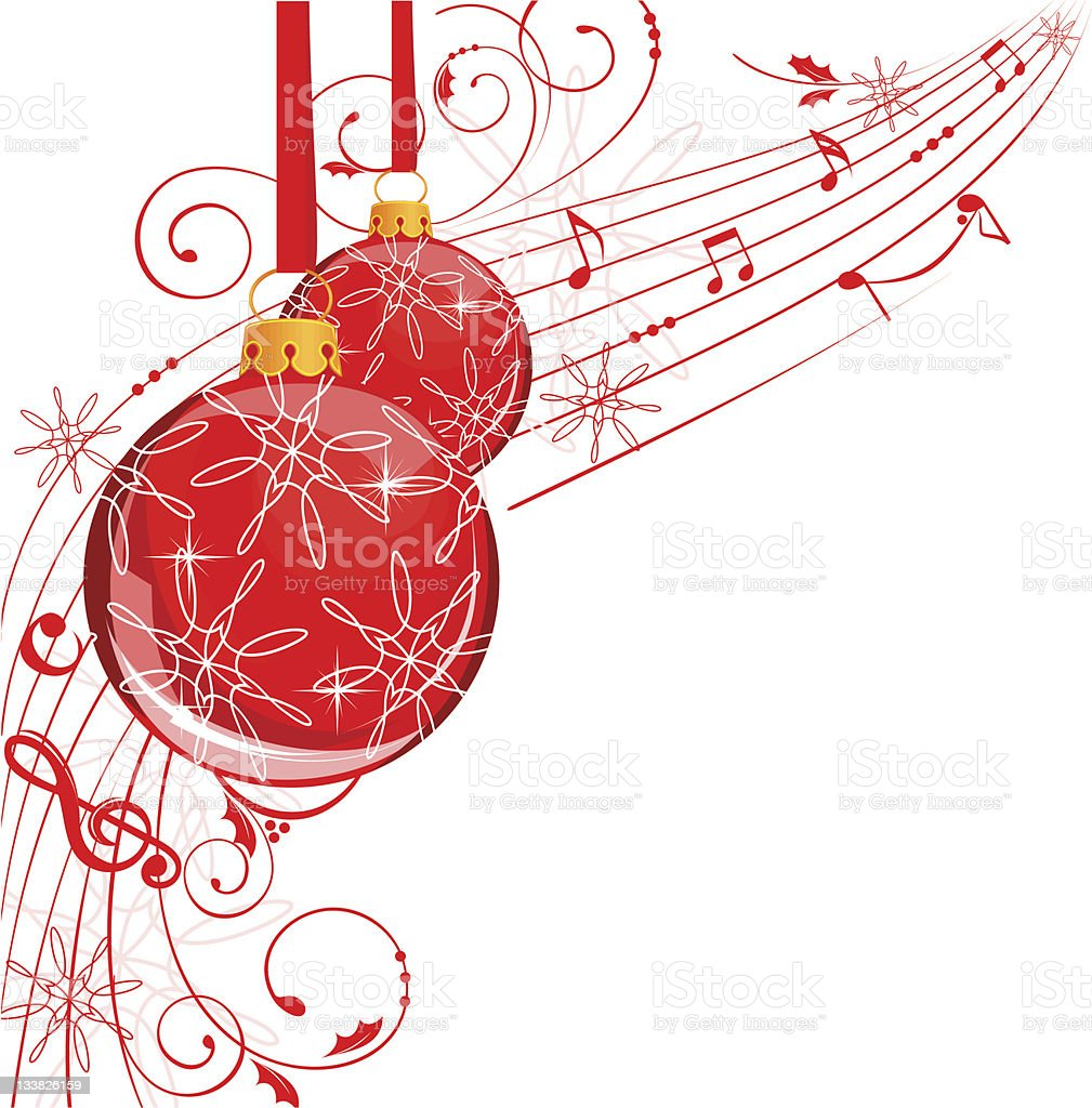 Musical Christmas Balls Holiday Banner Stock Illustration ...