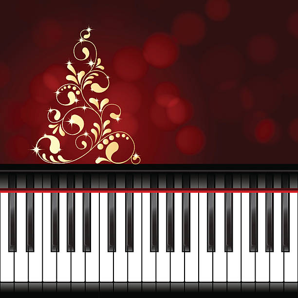 Christmas Piano.Best Christmas Piano Illustrations Royalty Free Vector