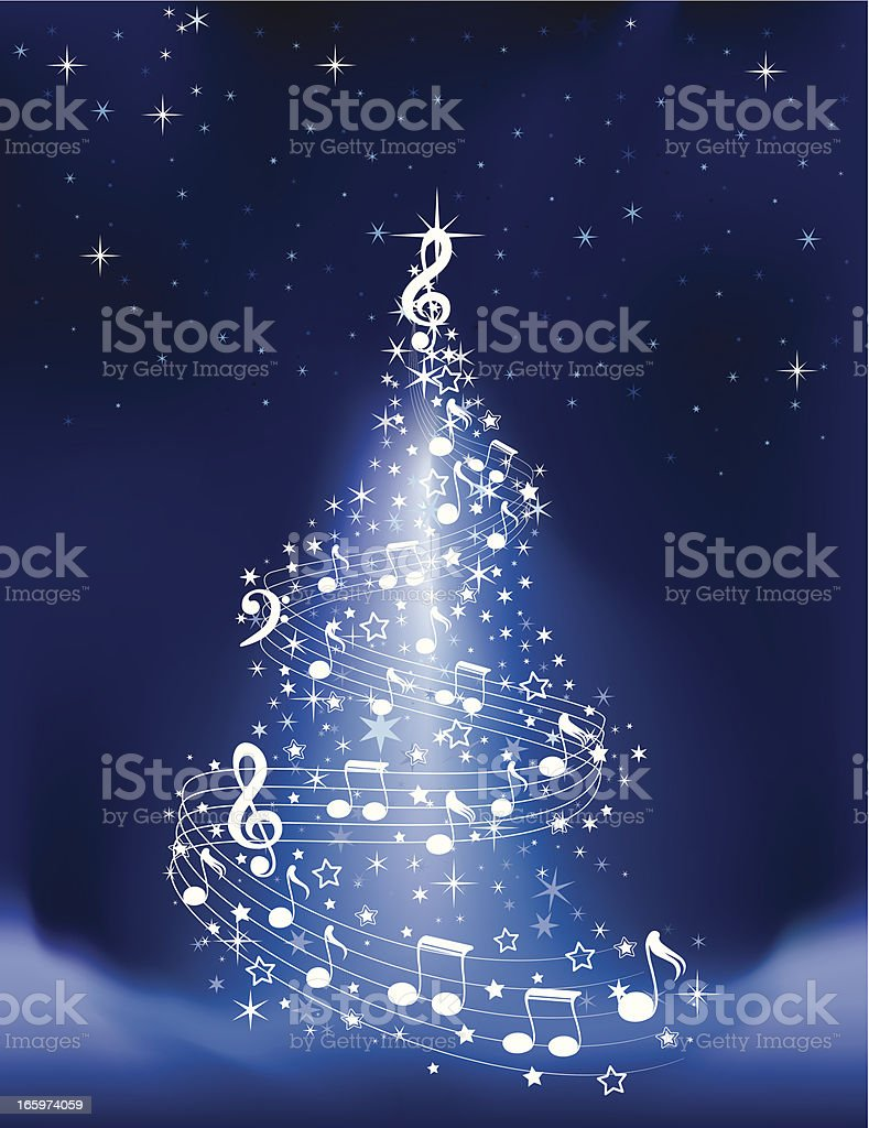 Musical Christmas Tree royalty-free stock vector art