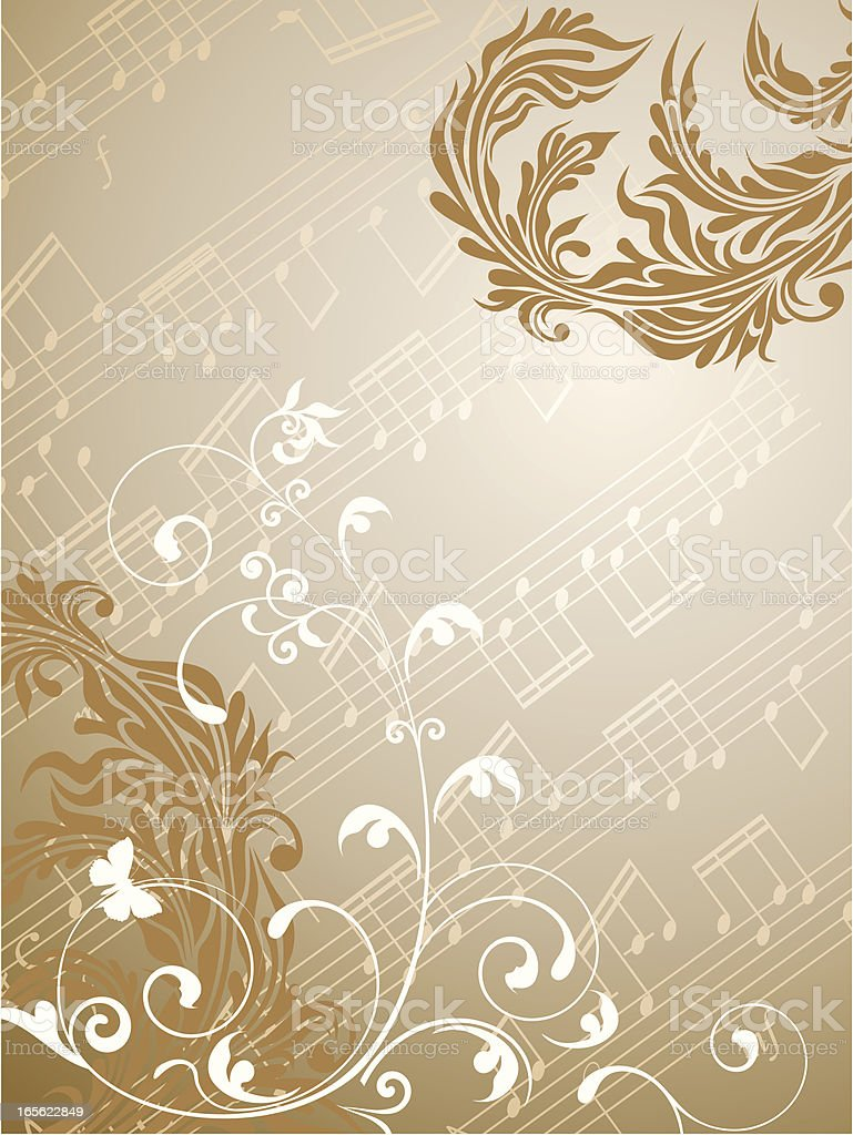 Musical composition royalty-free stock vector art