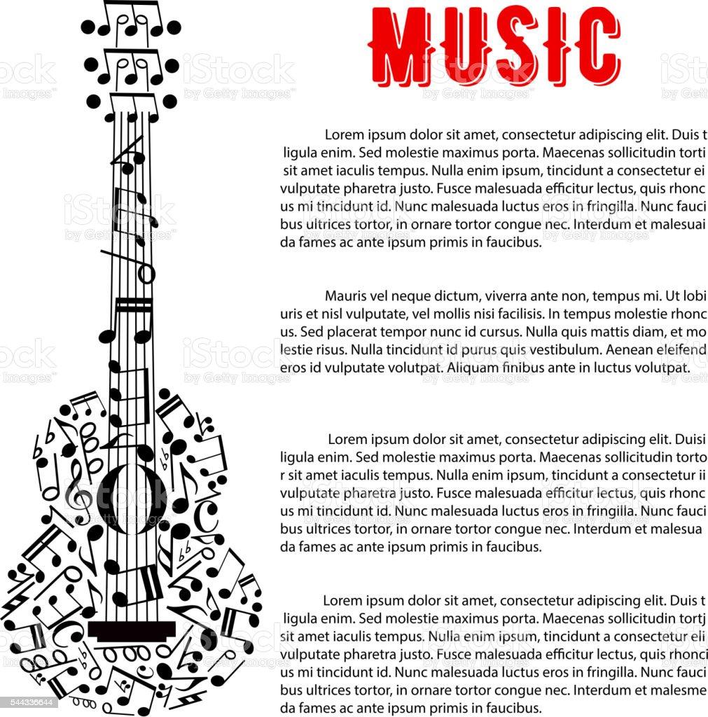 Ilustración de Conciertos Musicales De Diseño De Cartel Con Guitarra ...