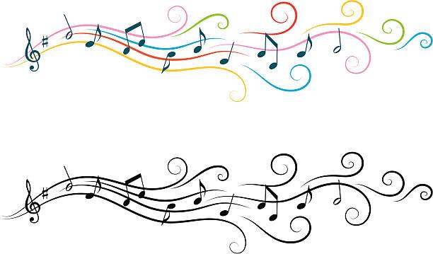 Musical design elements vector art illustration