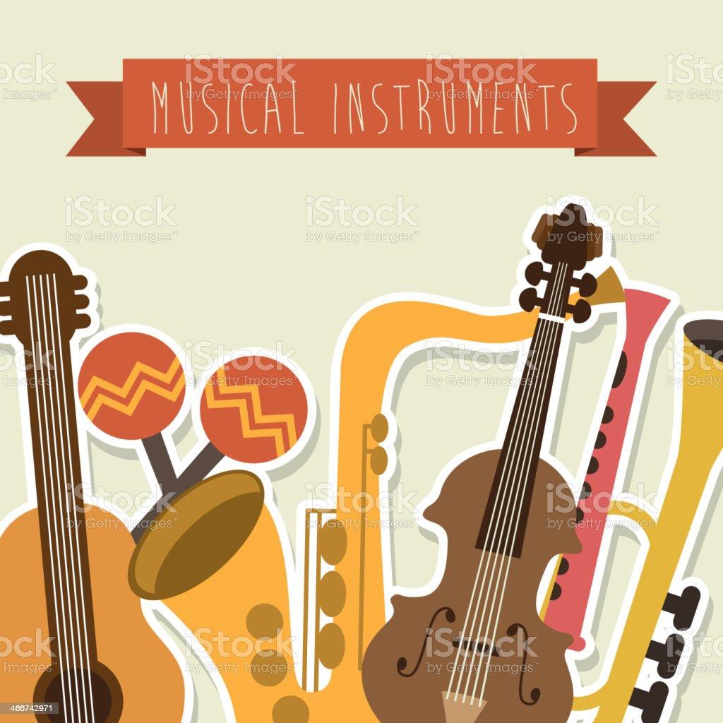Musical Design royalty-free stock vector art