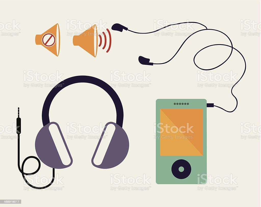 Musical Design vector art illustration