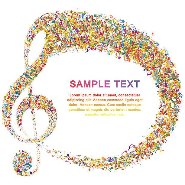 projekt muzyczny - harmonia instrument stock illustrations