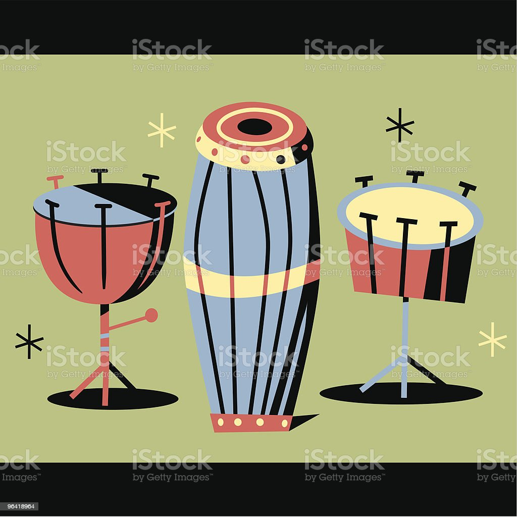 Musical Drums royalty-free musical drums stock vector art & more images of 1950-1959
