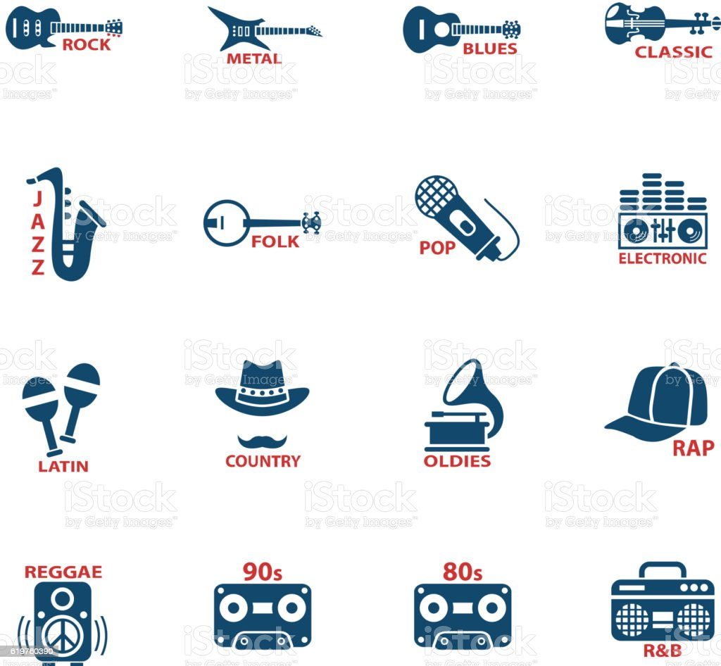 Musical Genre Web Icons Stock Illustration - Download Image