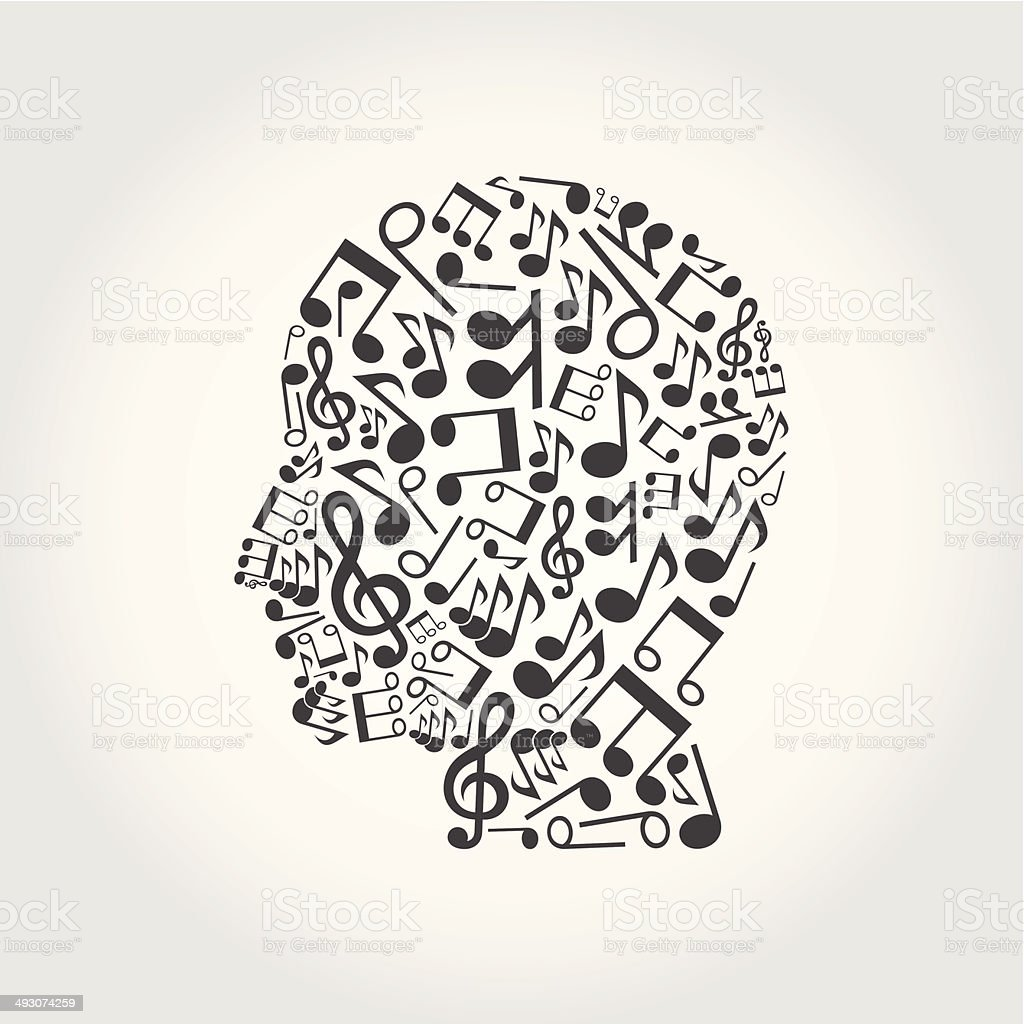 Musical head royalty-free stock vector art