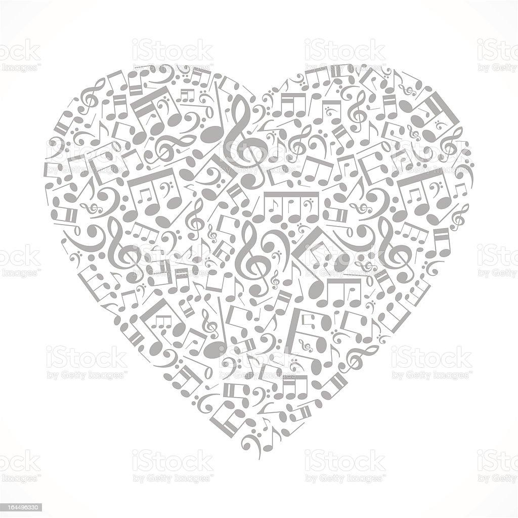 Musical heart royalty-free stock vector art