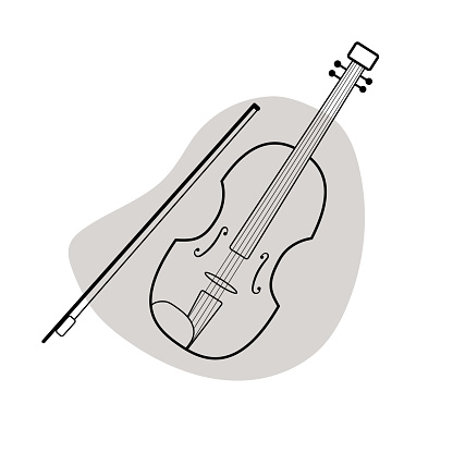 Musical instrument icon isolated on white background.