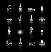 Musical instrument icons.