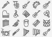 Musical Instrument Line Icons