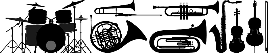 Musical Instrument Silhouettes
