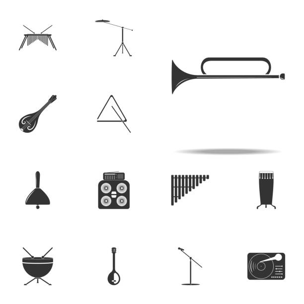 musical instrument trumpet icon. Music Instruments icons universal set for web and mobile vector art illustration