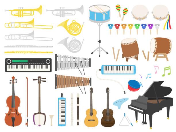 stockillustraties, clipart, cartoons en iconen met muziekinstrument - castagnetten