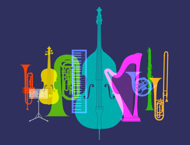 musical instruments - classical orchestra - klarnet stock illustrations