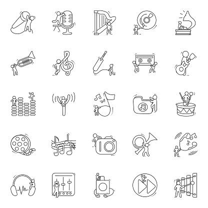 Musical Instruments Doodle Vectors Pack