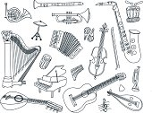 Musical Instruments Doodles