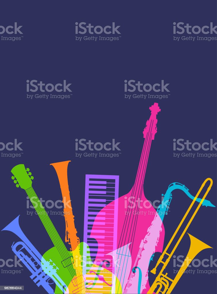 Musical Instruments Jazz Stock Illustration - Download Image Now