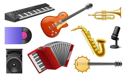 Musical Instruments Realistic Set