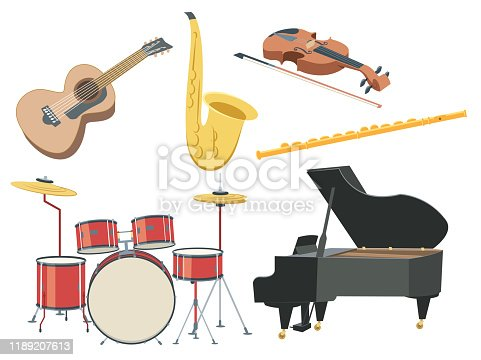 Vector Musical instruments set
