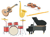 Vector Musical instruments set