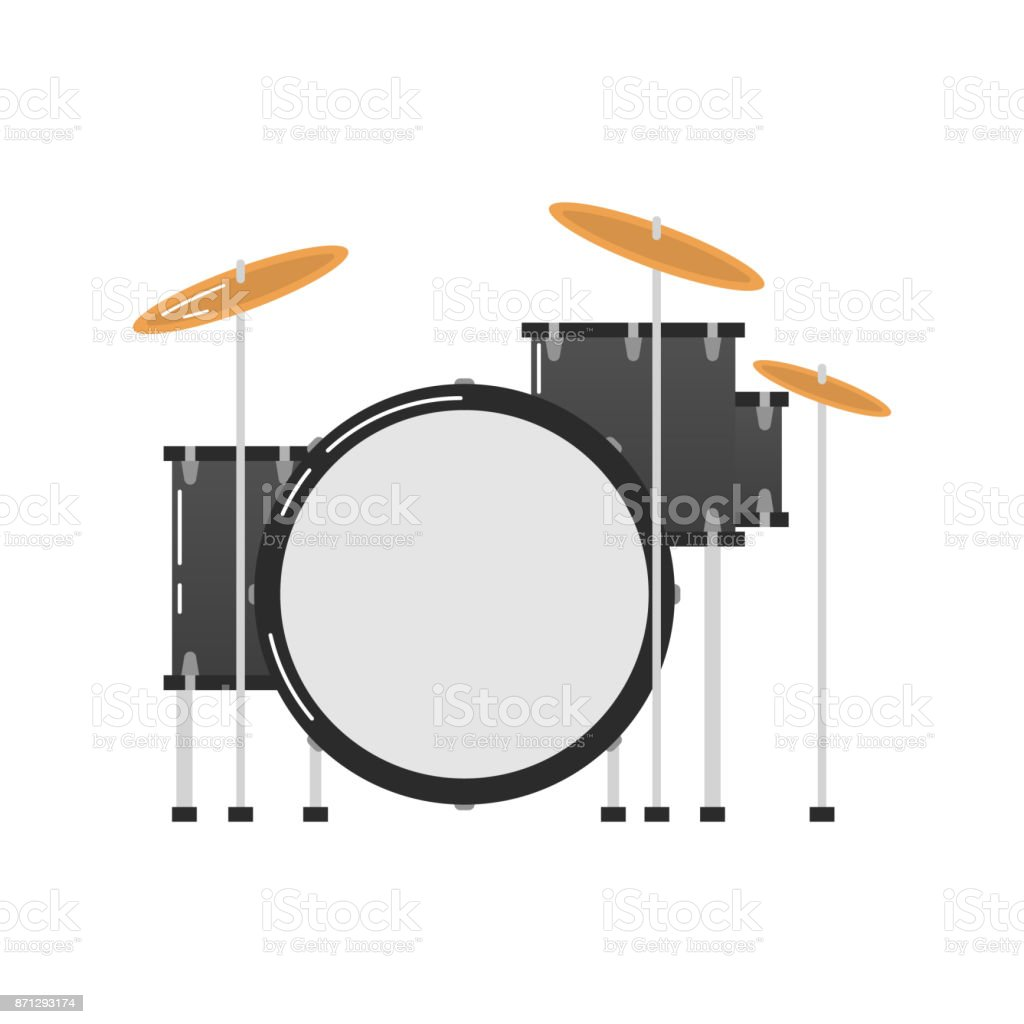 Musical instruments topic. vector art illustration
