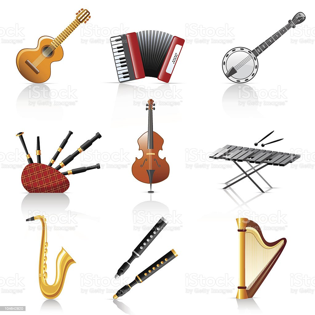 musical instruments royalty-free musical instruments stock vector art & more images of accordion - instrument