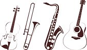 vector file of musical instruments