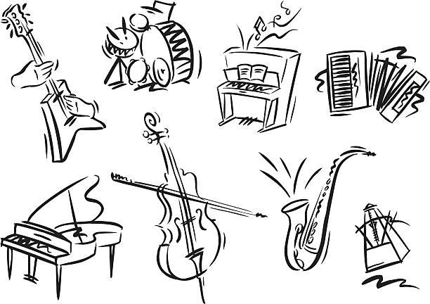 Musikinstrumente – Vektorgrafik