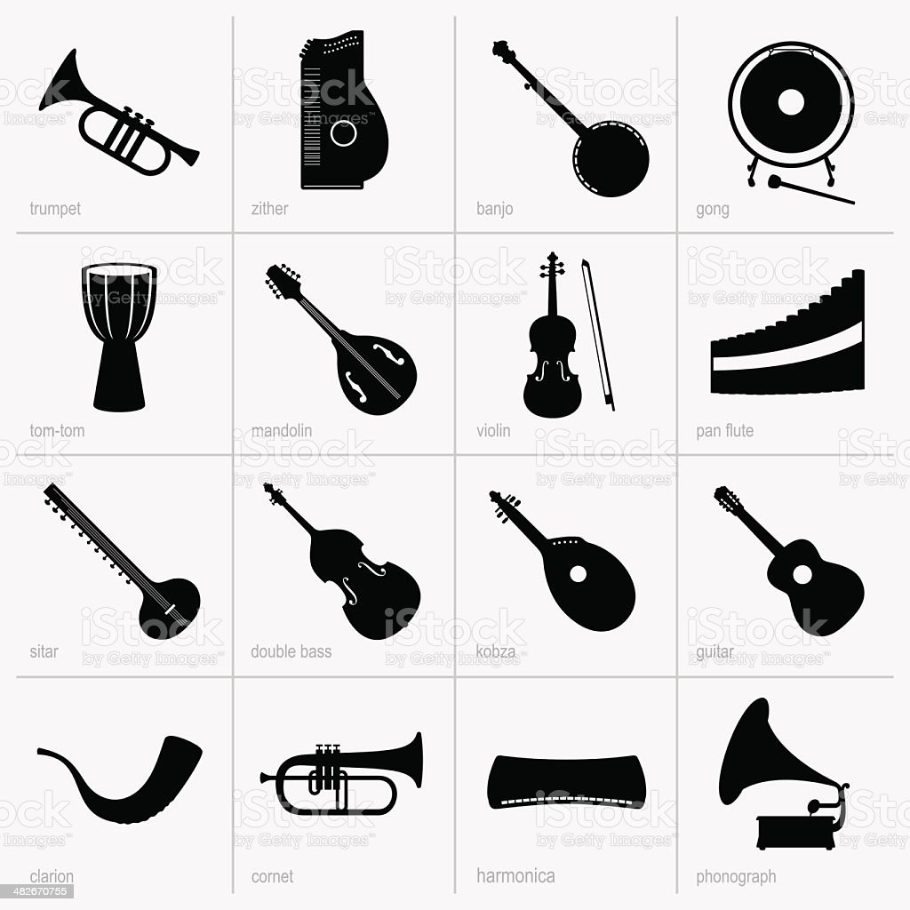Musical instruments (part 2) royalty-free stock vector art