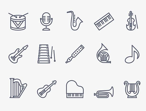 stockillustraties, clipart, cartoons en iconen met musical instruments - viool