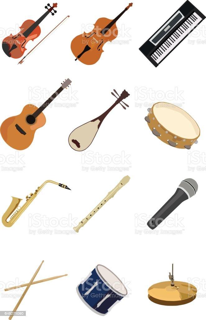 Instruments de Musique  - Illustration vectorielle