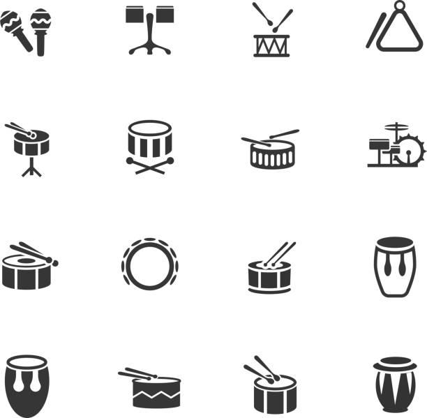 stockillustraties, clipart, cartoons en iconen met muziekinstrumenten - castagnetten