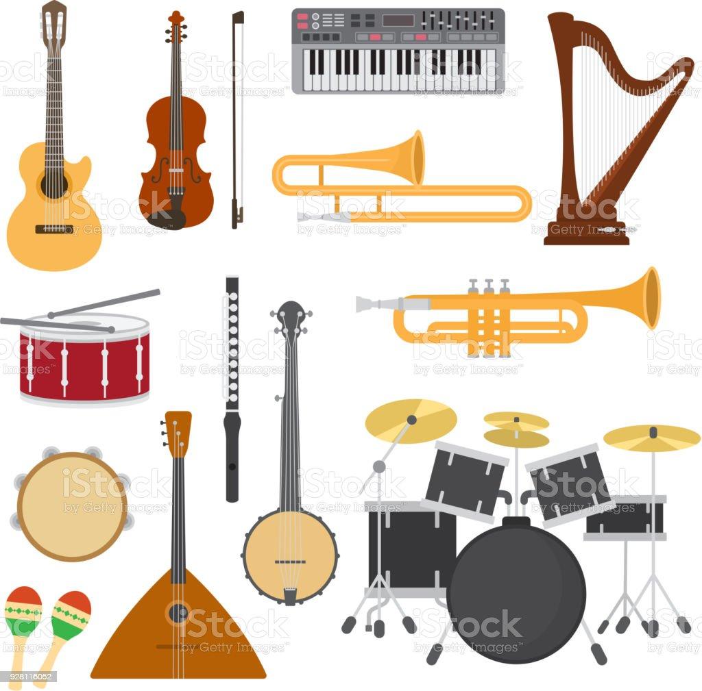 Instruments De Musique Vector Concert De Musique Avec La