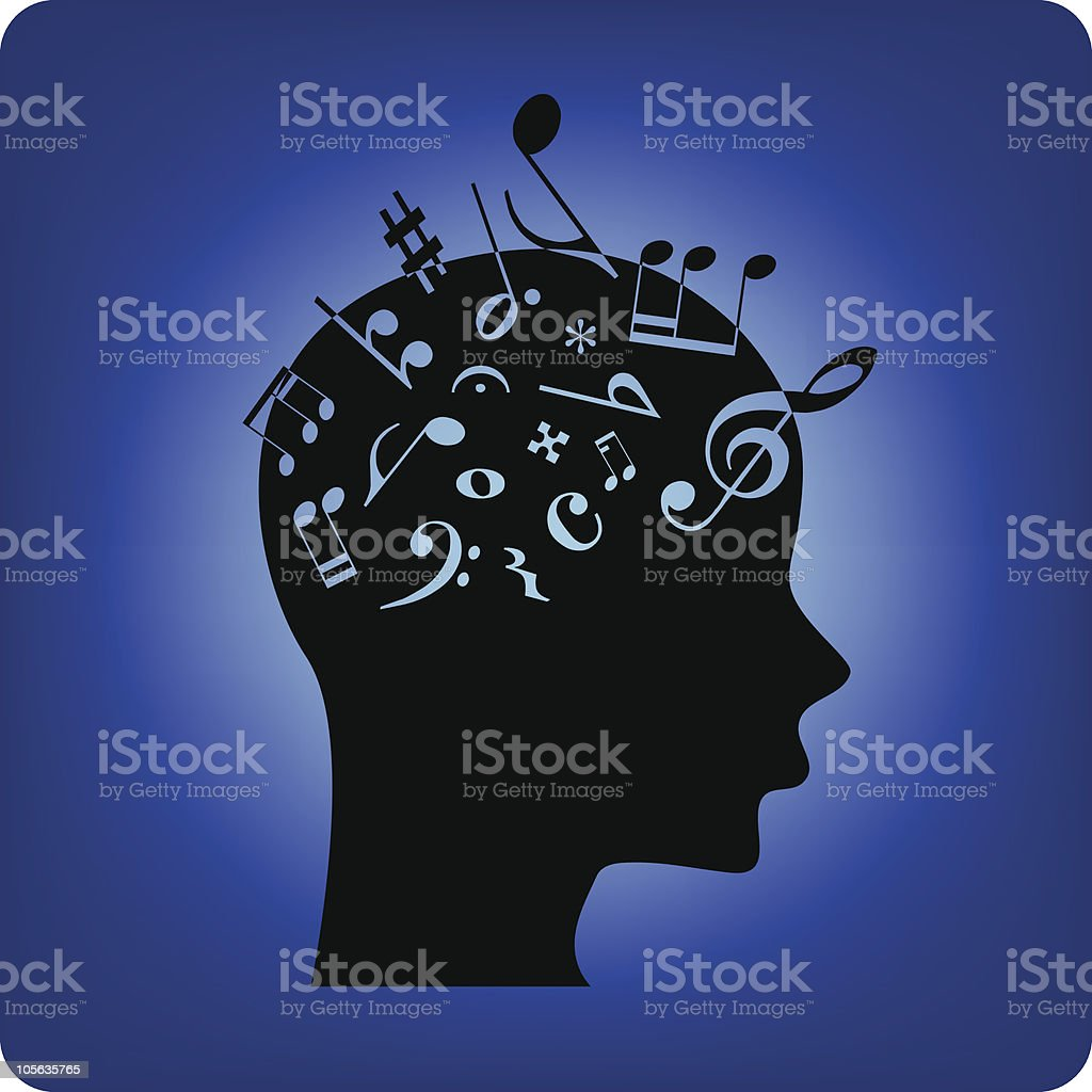 Musical mind - Royalty-free Acoustic Guitar stock vector