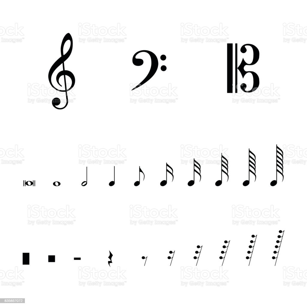 Musical Notation Symbols Stock Vector Art More Images Of Arts