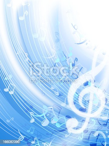 Musical note background, in 7 separate layers, it can be edited easily.