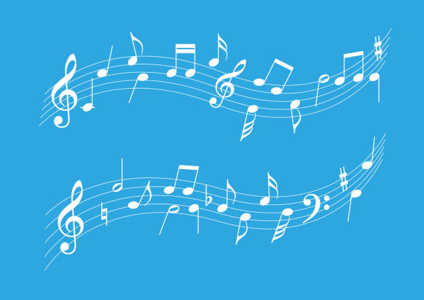 musical note harmony, vector illustration - harmonia instrument stock illustrations