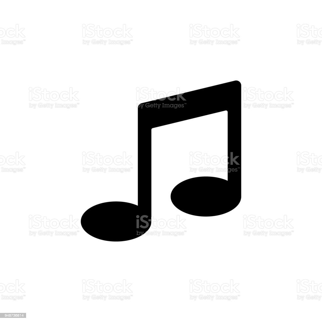 Musical Note Icon Element Of Minimalistic Icon For Mobile Concept