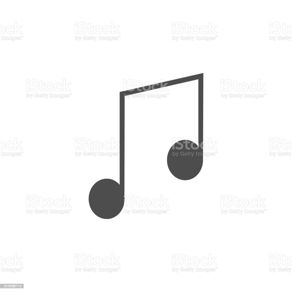 musical note icon. Elements of web icon. Premium quality graphic design icon. Signs and symbols collection icon for websites, web design, mobile app vector art illustration