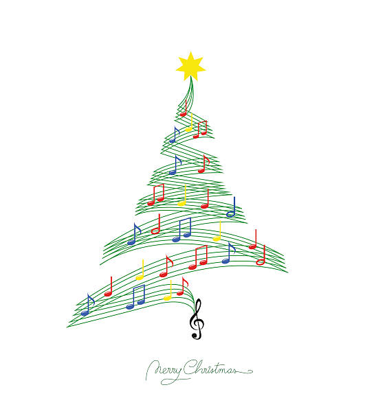 Christmas Graphics.Best Christmas Music Illustrations Royalty Free Vector