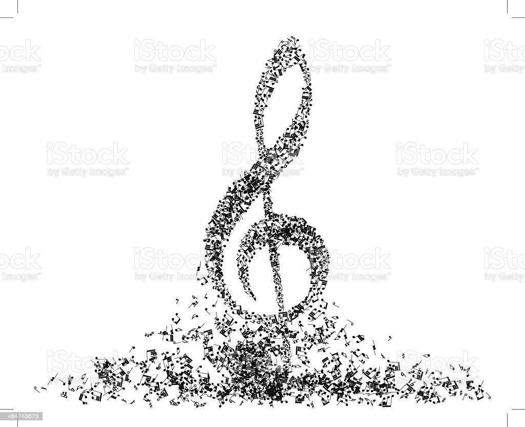 Musical note staff set royalty-free stock vector art