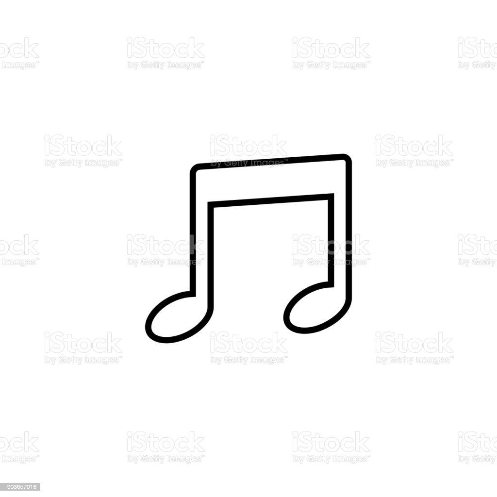 Musical note symbol vector icon vector art illustration