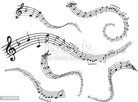 Vector Illustration for Musical Note.